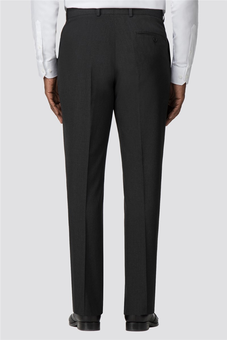 Branded Charcoal Regular Fit Suit Trousers