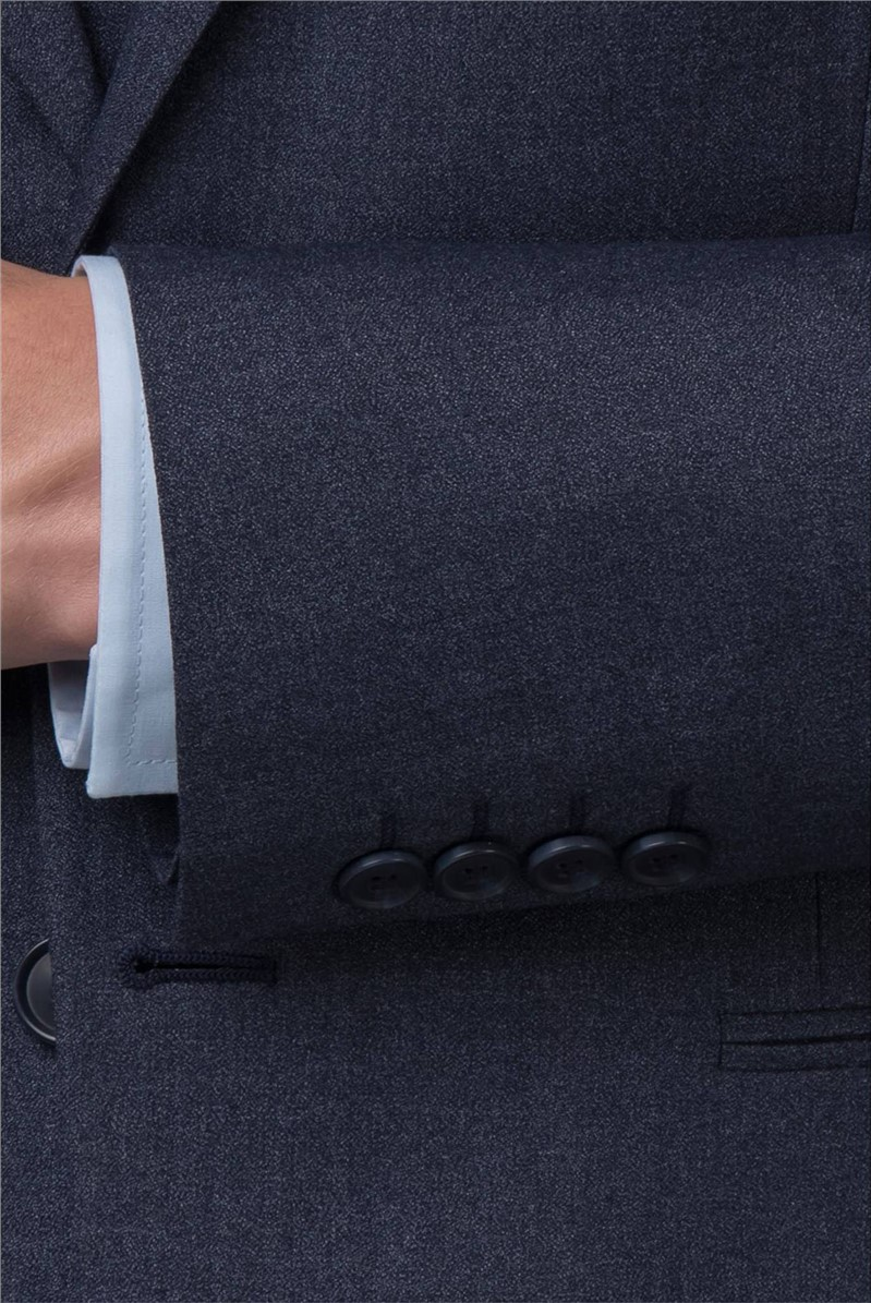 Slate Blue Jaspe Slim Fit Jacket