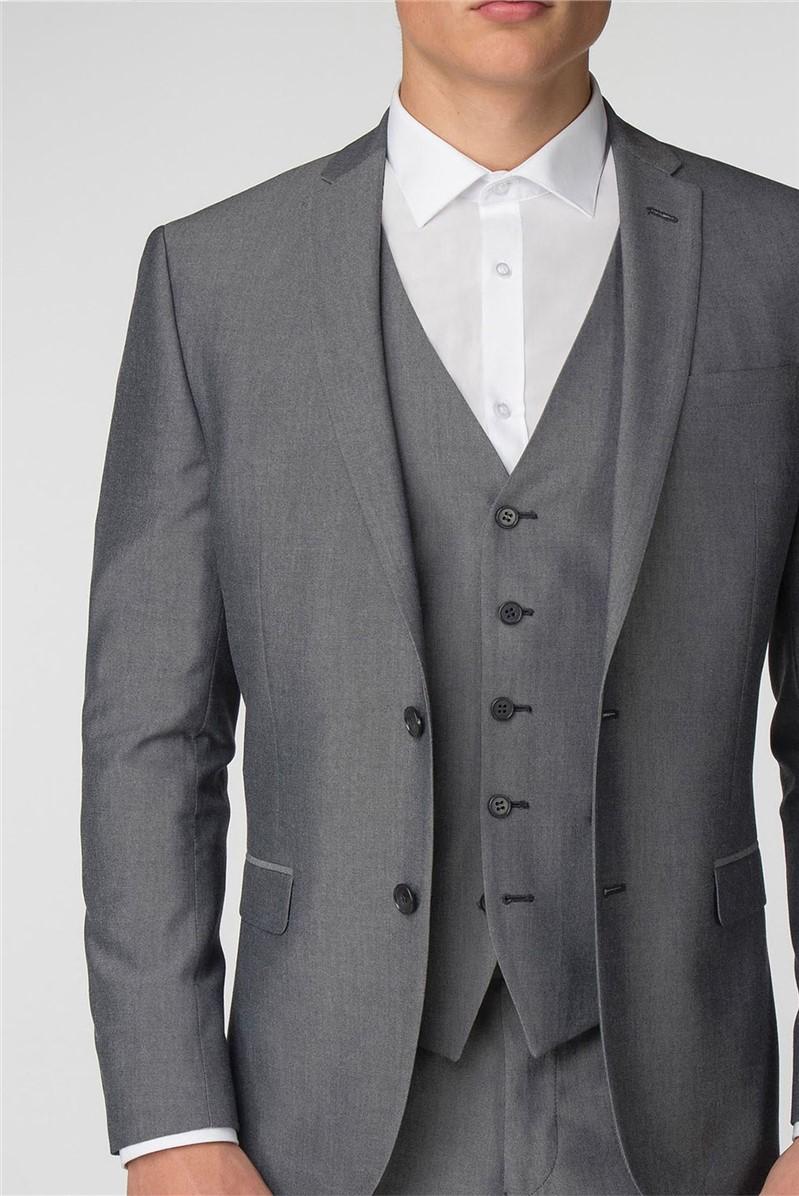 Plain Silver Grey Tonic Slim Fit Suit