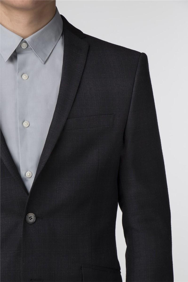 Black and Merlot Check Slim Fit Suit