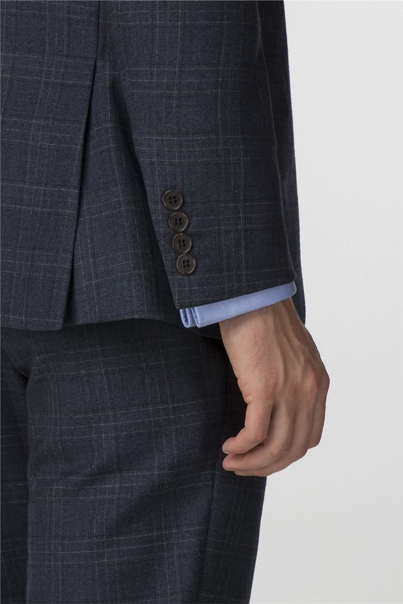 Navy Check Tailored Fit Suit