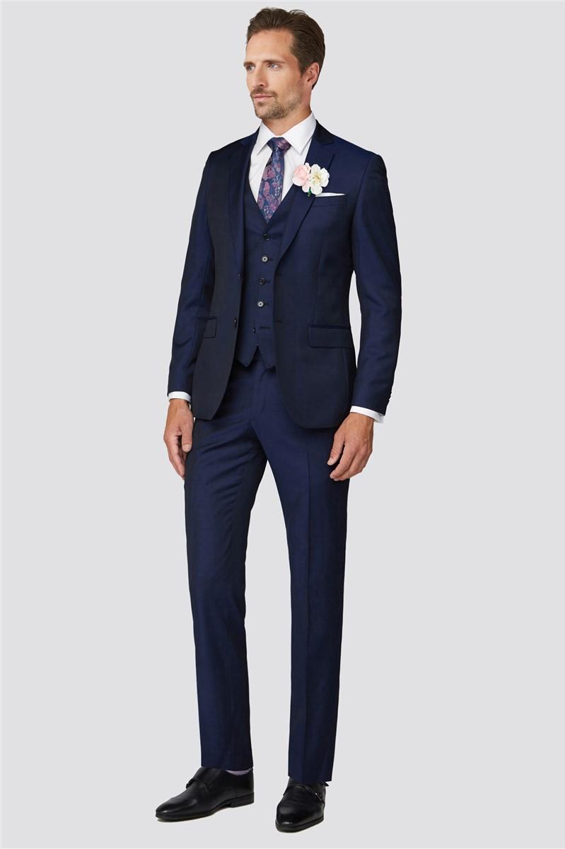 Weston Blue Twill Suit Trouser