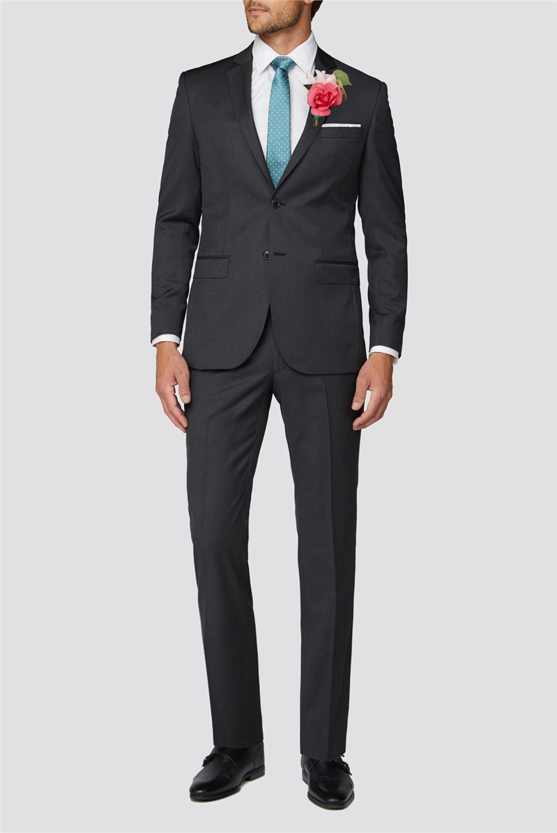 Weston Charcoal Twill Suit Trouser