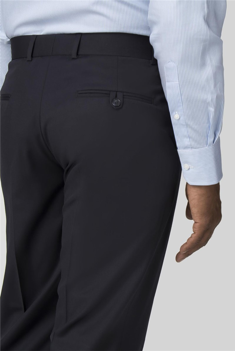 Performance Navy Twill Regular Fit Suit Trouser