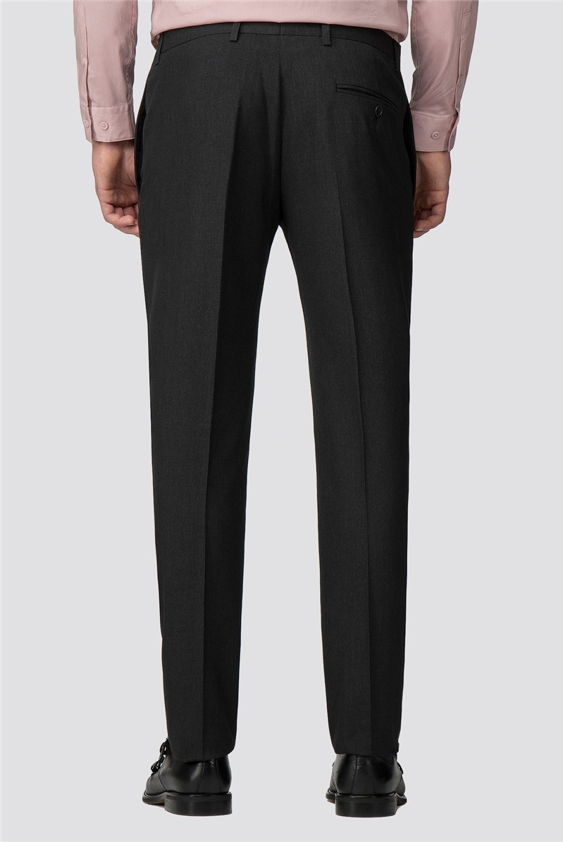 Branded Charcoal Skinny Fit Suit Trousers