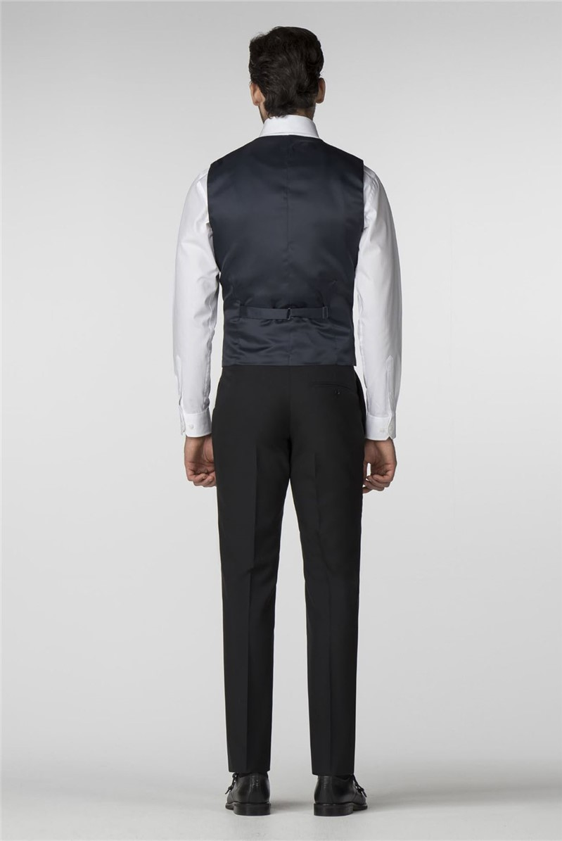 Black Panama Tailored Fit Suit