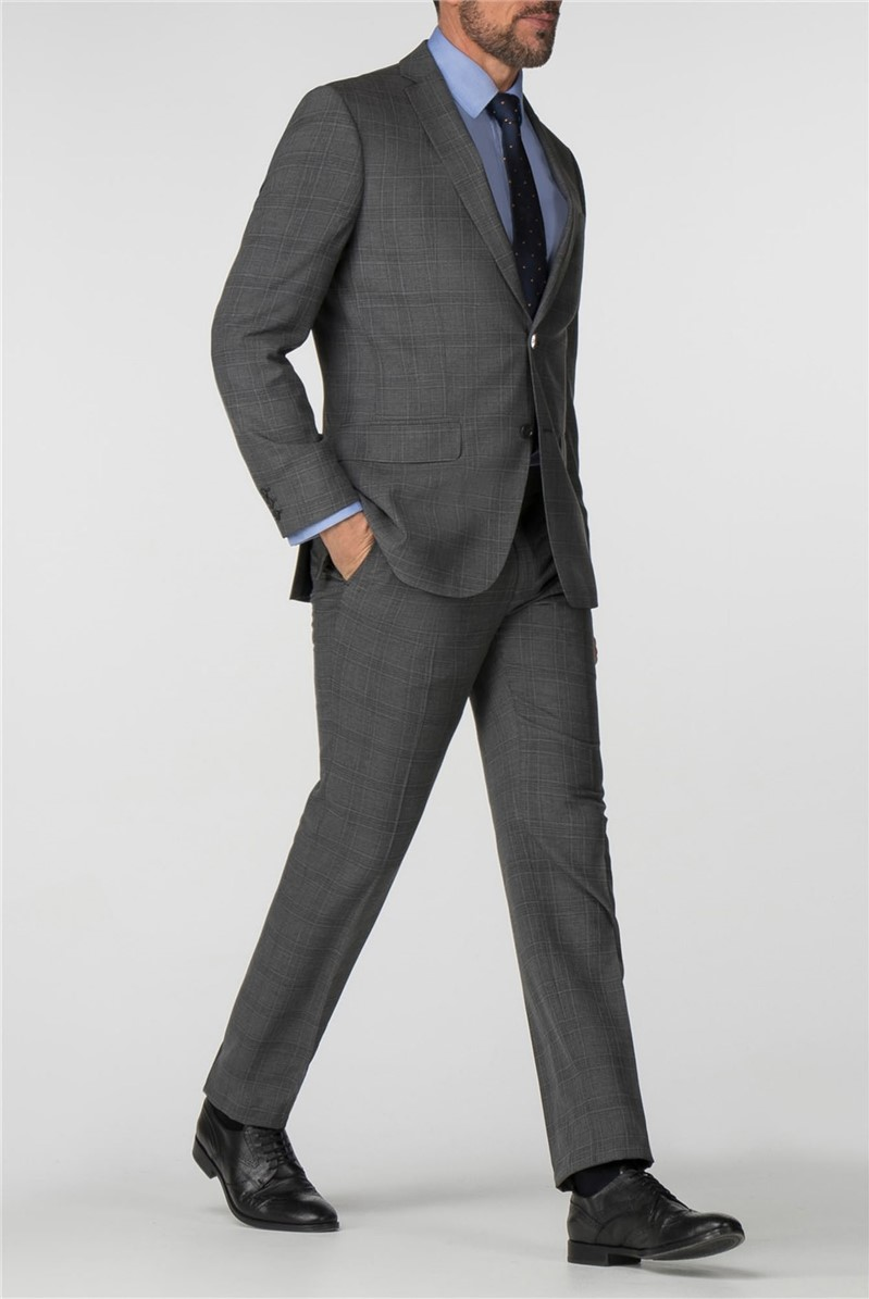 Charcoal Check Tailored Fit Suit