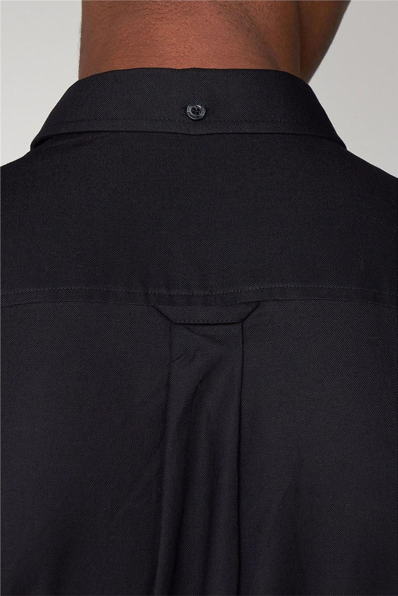 Black Long Sleeved Oxford Shirt