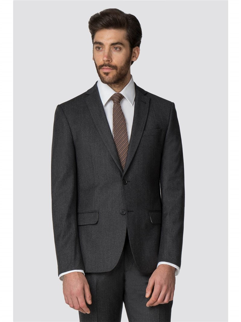 Charcoal Flannel Tailored Fit Suit