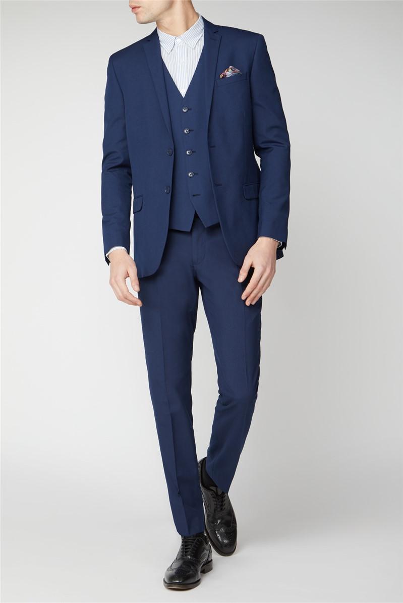 Blue Panama Slim Fit Trousers