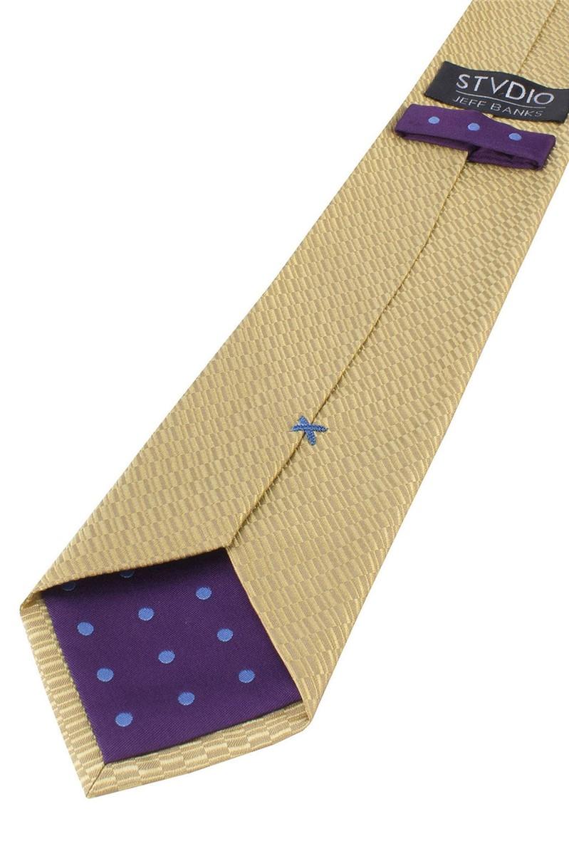 Stvdio Gold Irregular Textured Tie