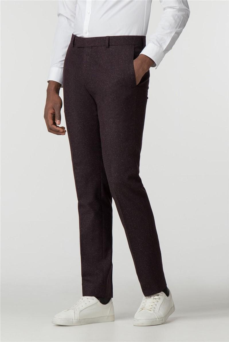 Merlot Speckle Slim Fit Trousers