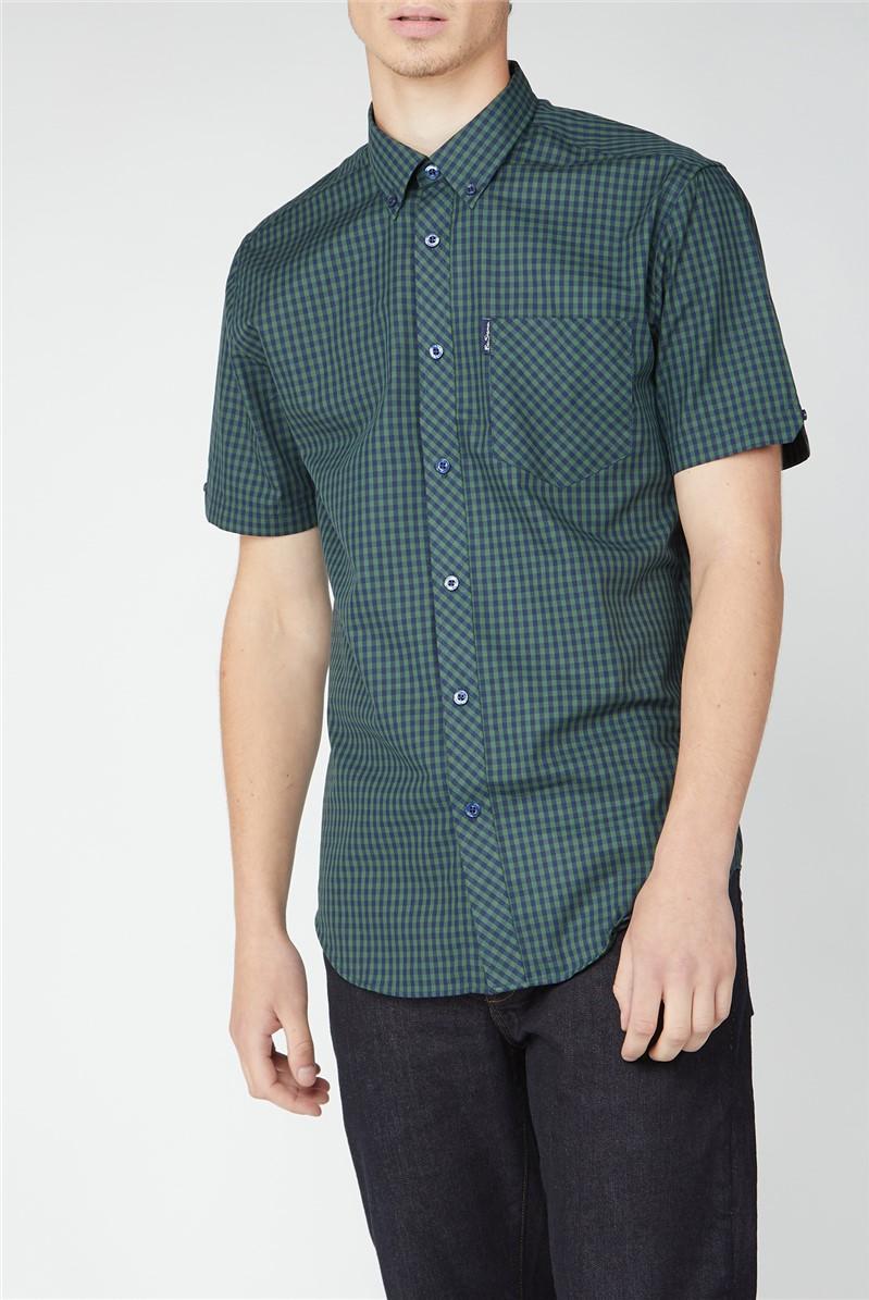 Short Sleeve Gingham Shirt