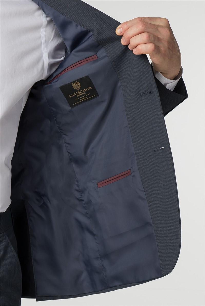 Regular Fit Navy Stripe Suit