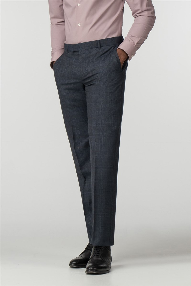 Navy Heritage Check Tailored Trouser