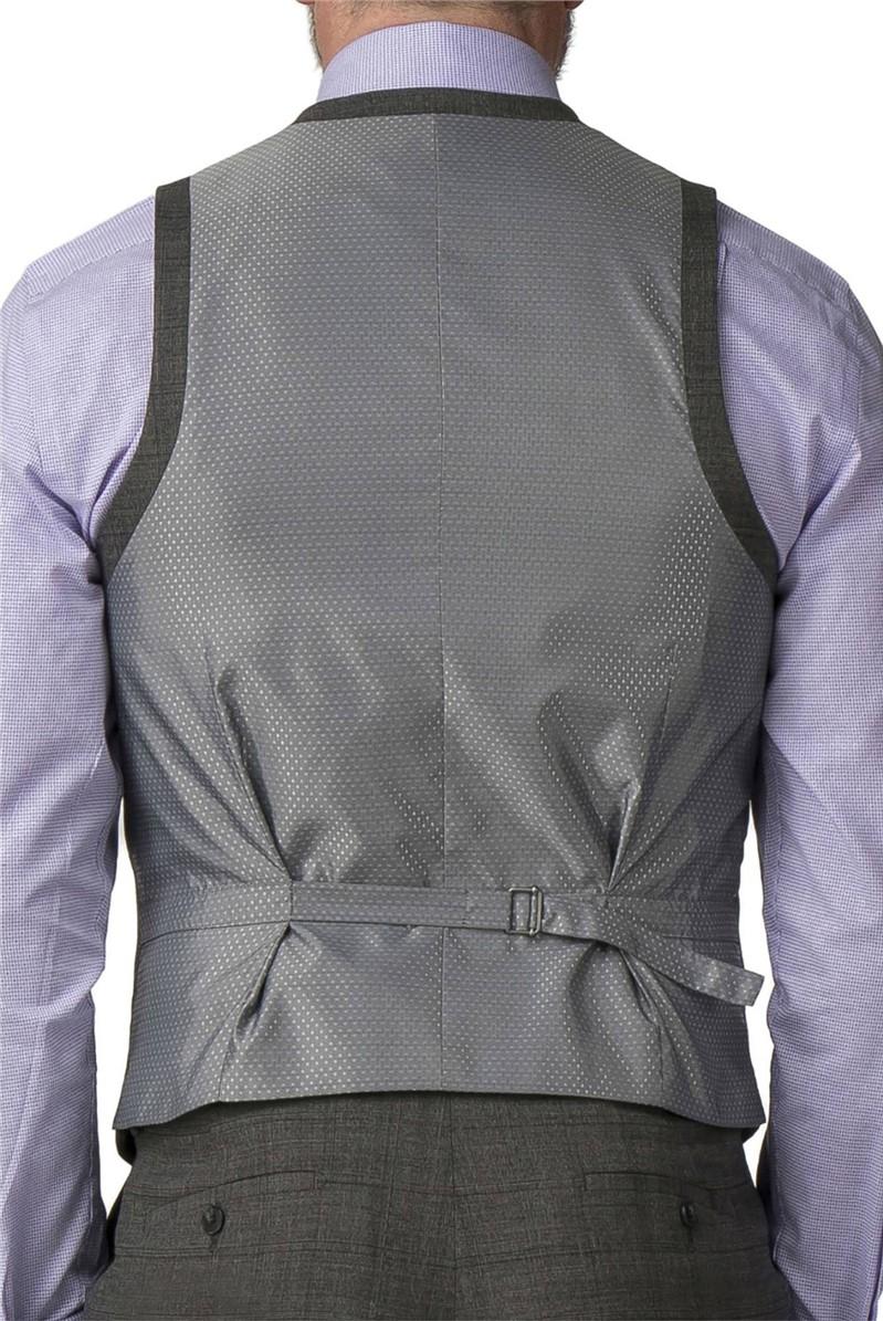 Grey Check Regular Fit Travel Suit