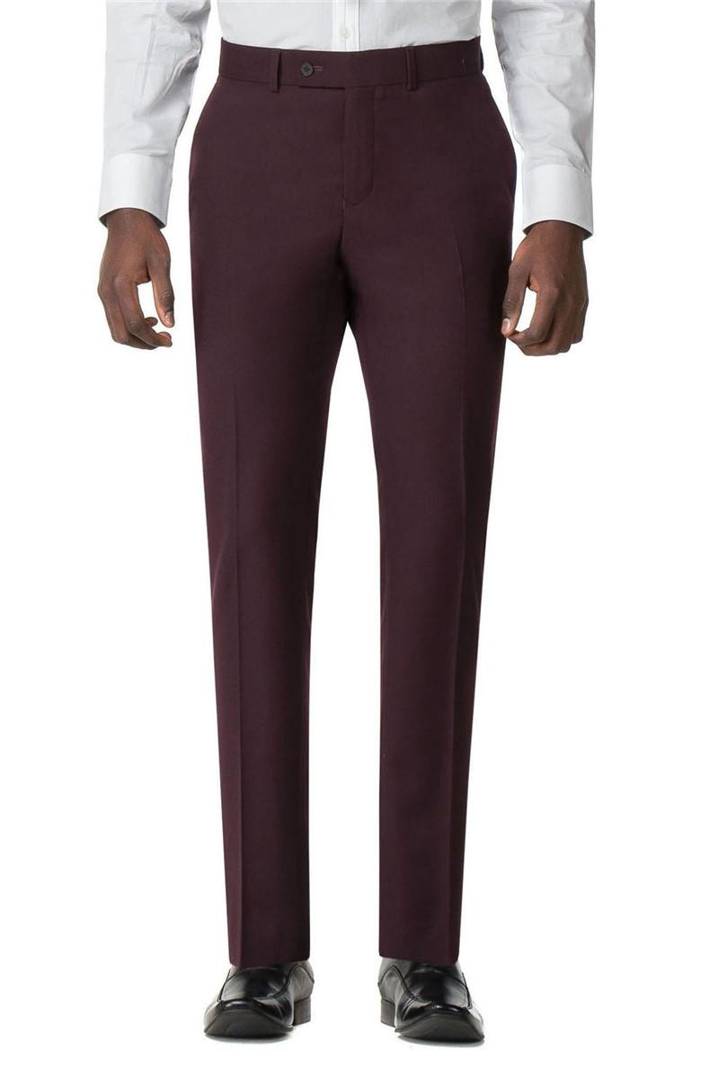 Stvdio Burgundy Twill Super Slim Fit Brit Trouser