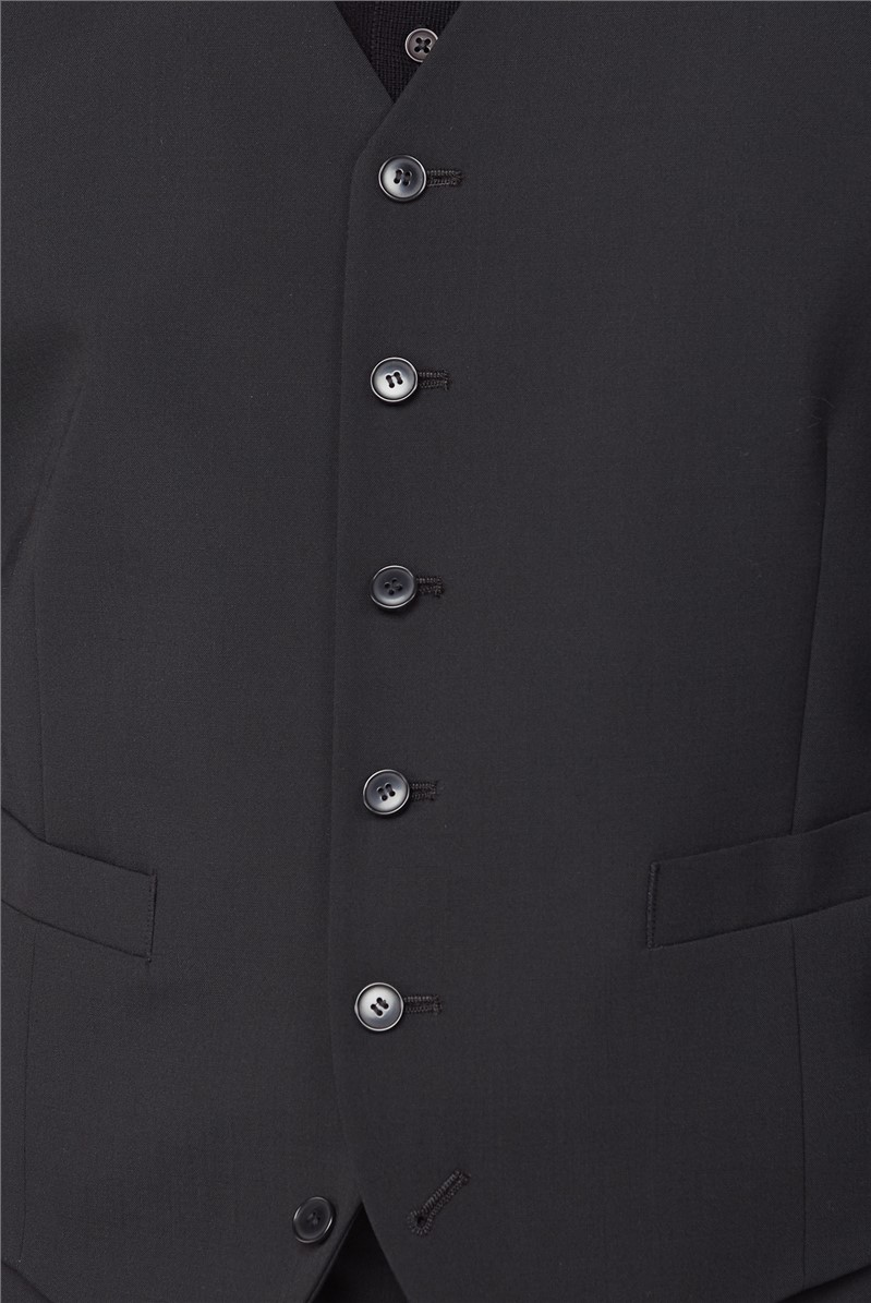 Stvdio Black Wool Blend Tailored Fit Suit