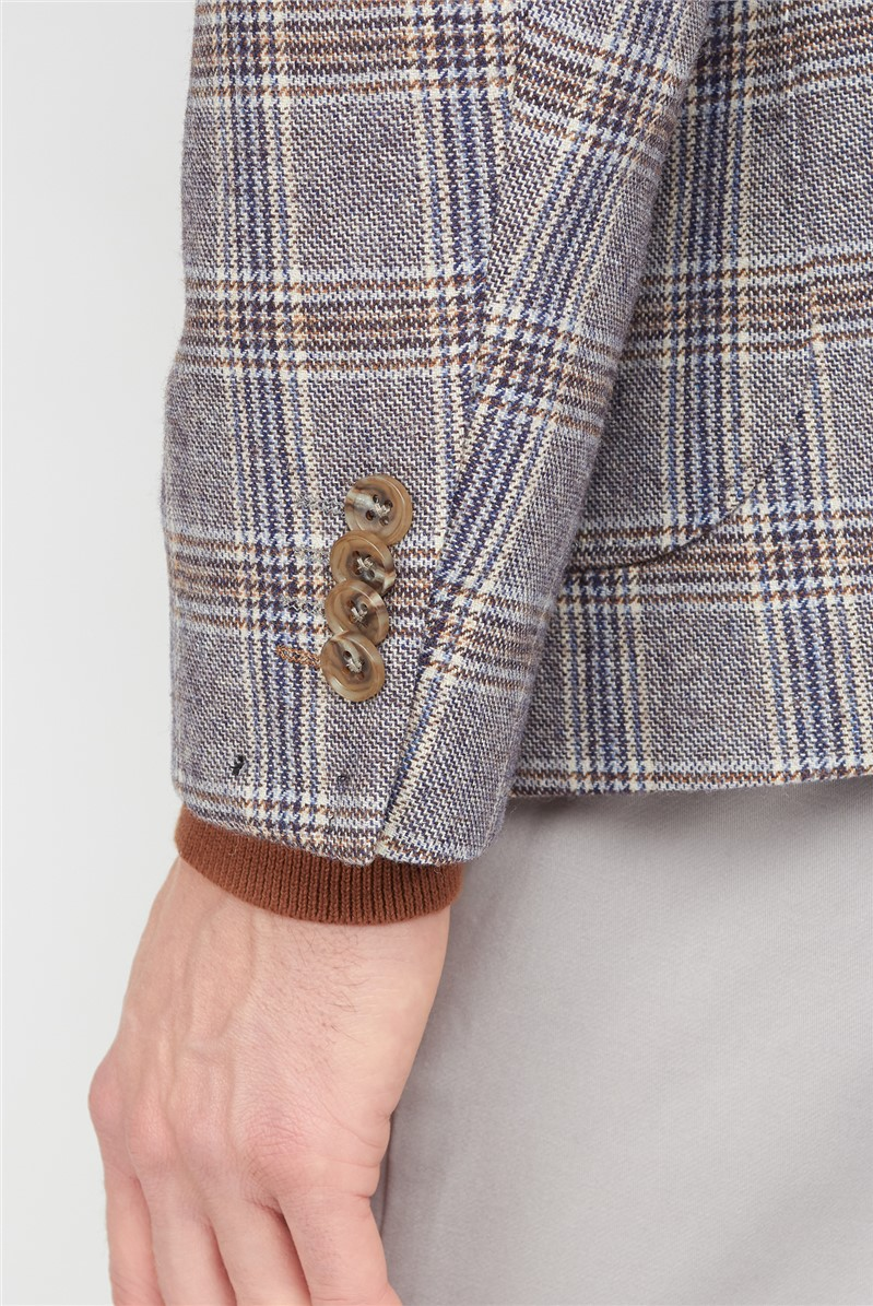 Casual Fawn Check Blazer