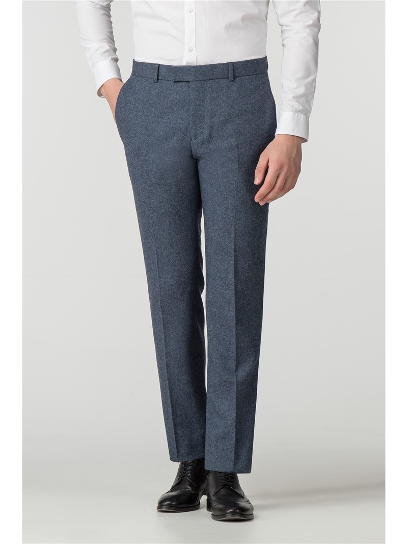 Airforce Blue Donegal Slim Fit Trousers