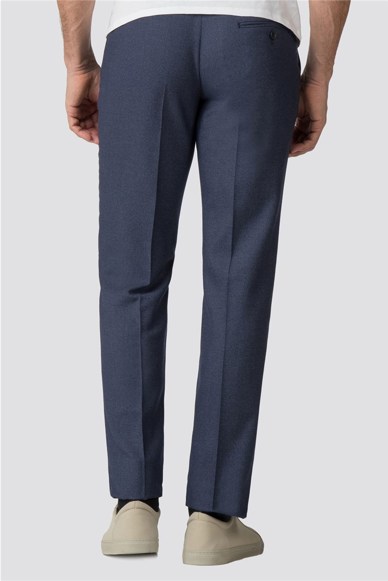 Airforce Blue Birdseye Tailored Fit Trouser