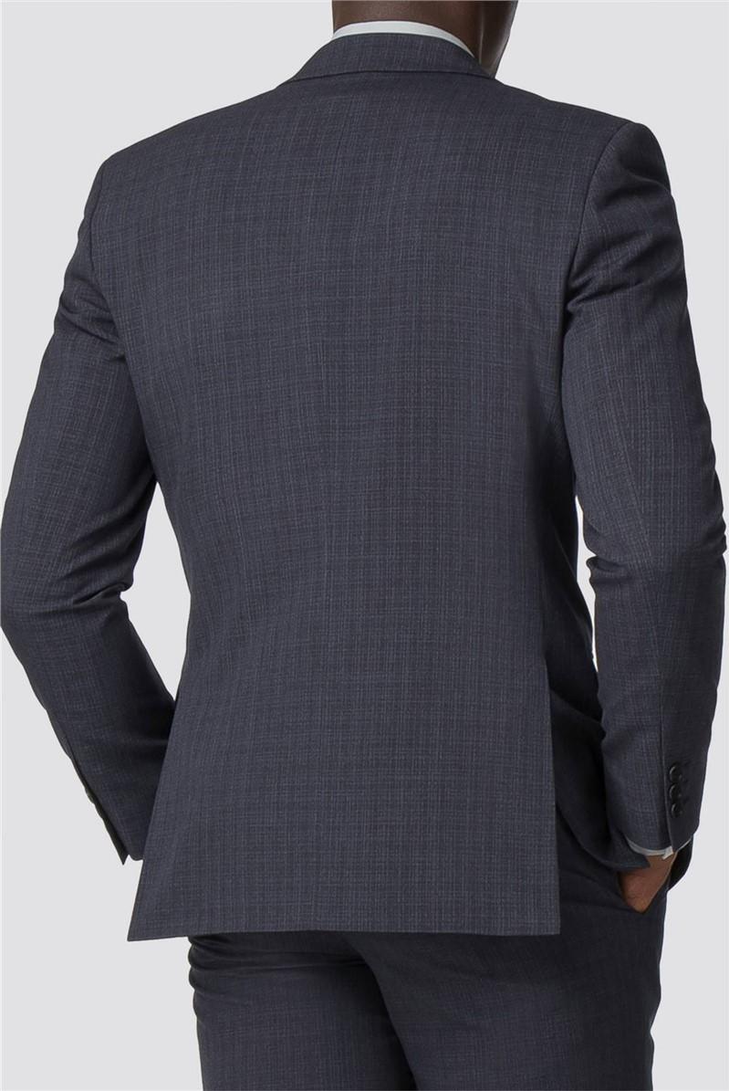 Navy Broken Texture Tailored Fit Trouser