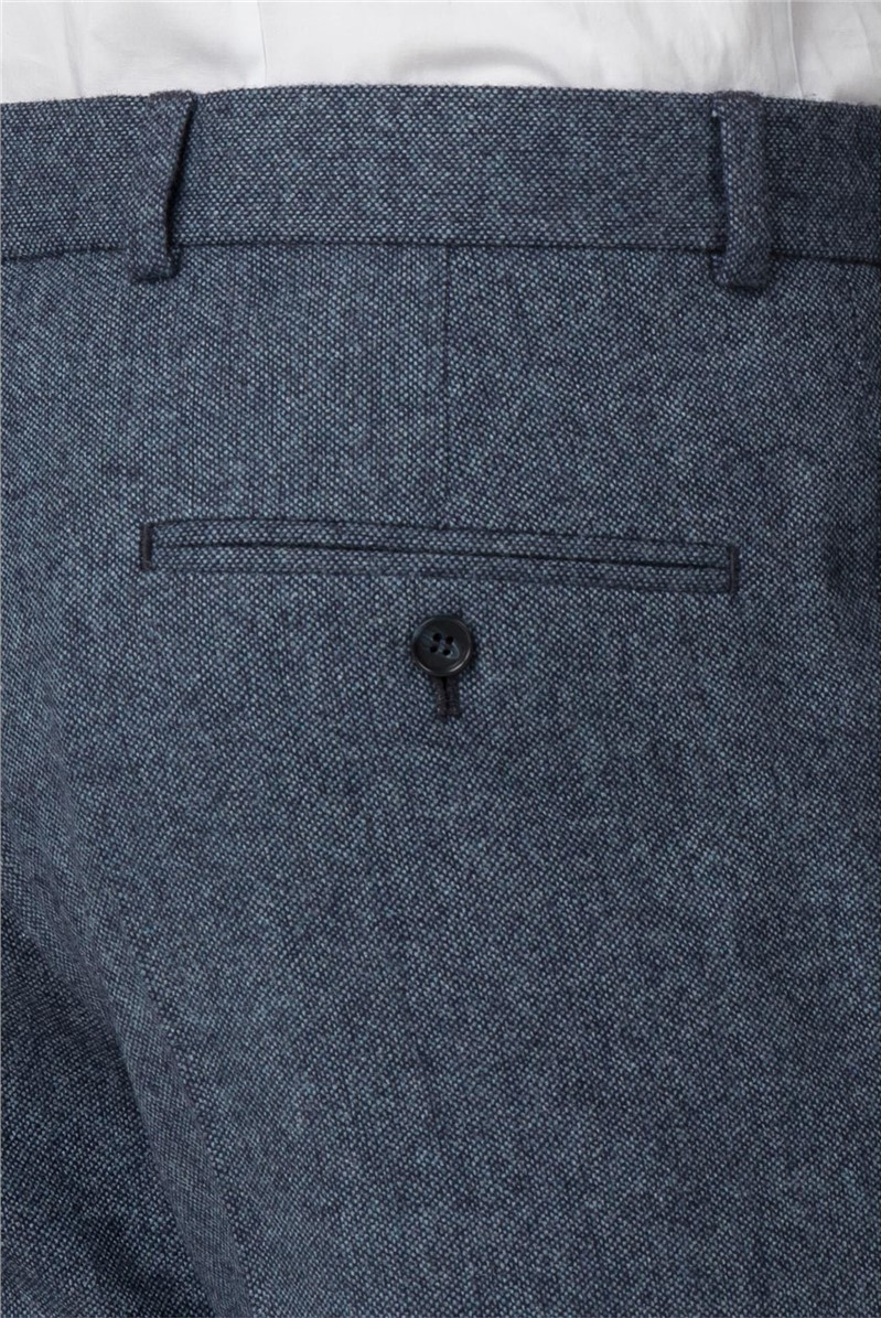 Airforce Blue Donegal Slim Fit Trouser