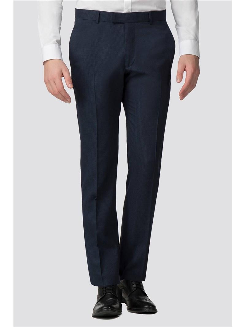Deep Blue Semi Plain Slim Fit Trouser