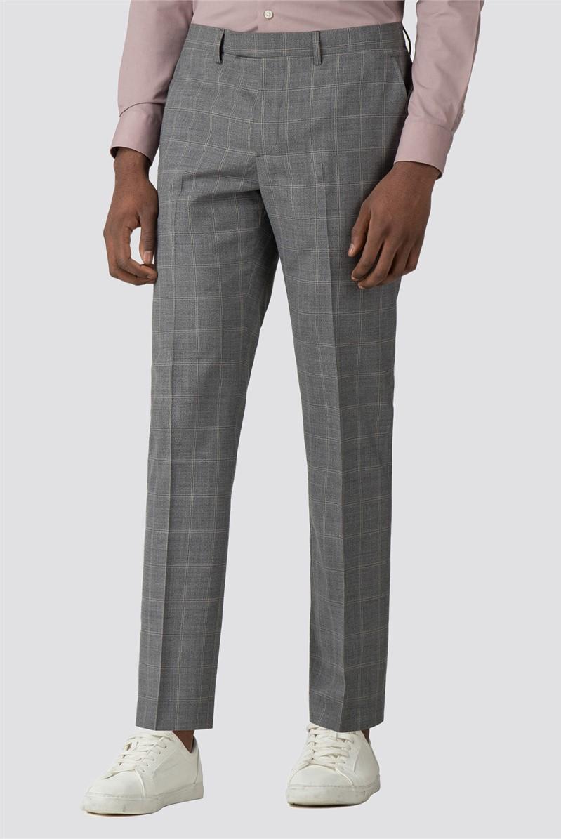 Grey Big Check Suit Jacket