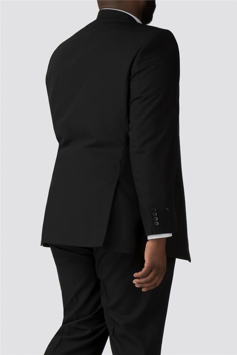 Black Plain Twill Trousers