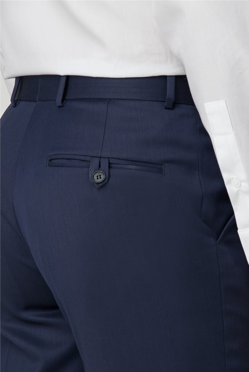 Performance Navy Twill Regular Fit Trousers