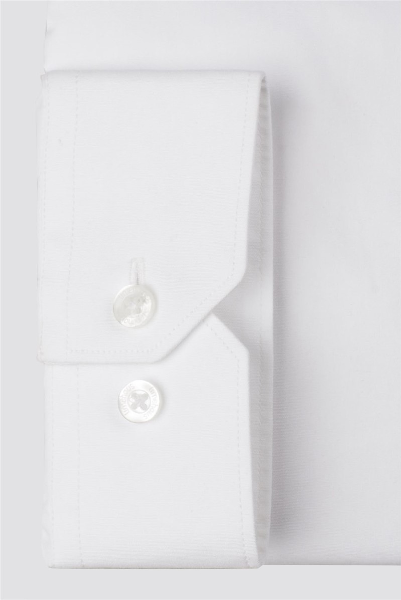 White Tipped Poplin Shirt