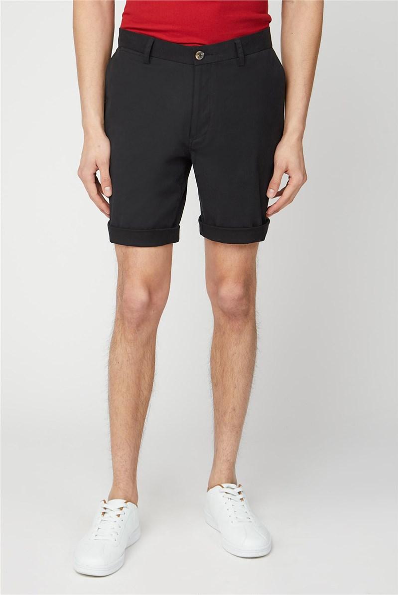 Men's Jet Black Chino Shorts