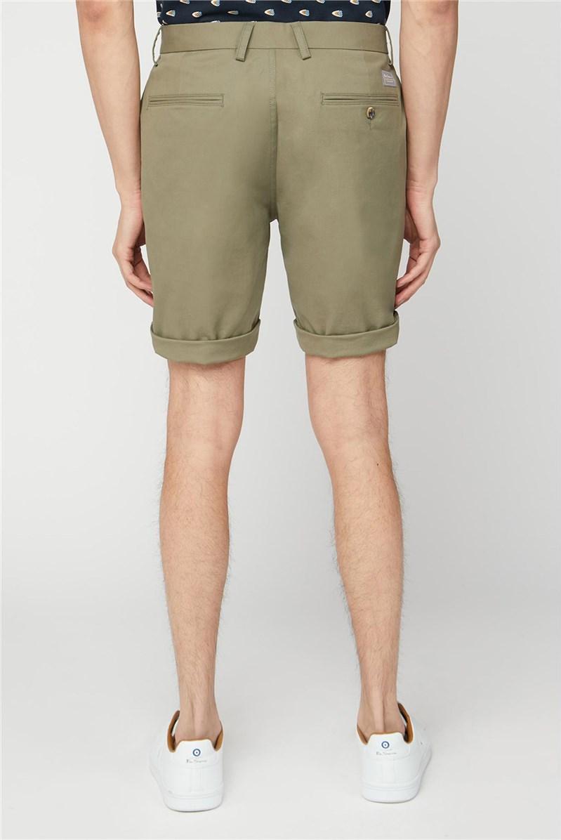 Men's Olive Green Chino Shorts