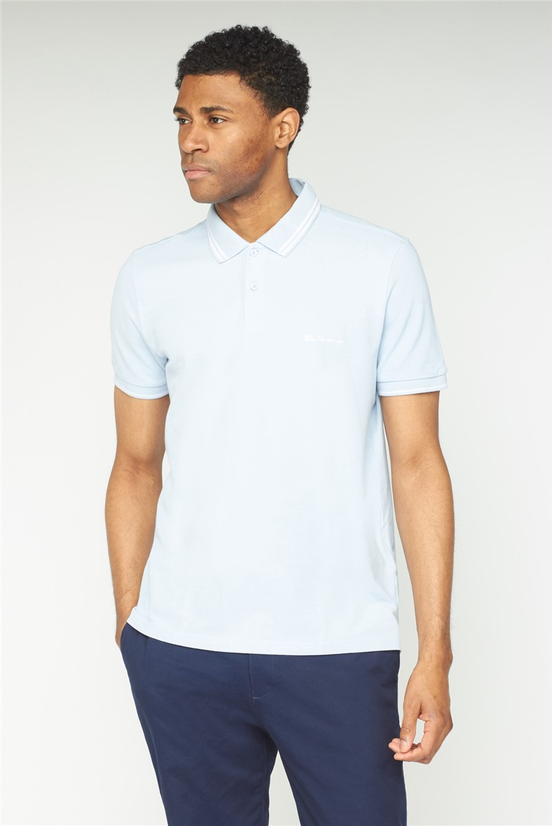 Sky Blue Romford Tipped Polo