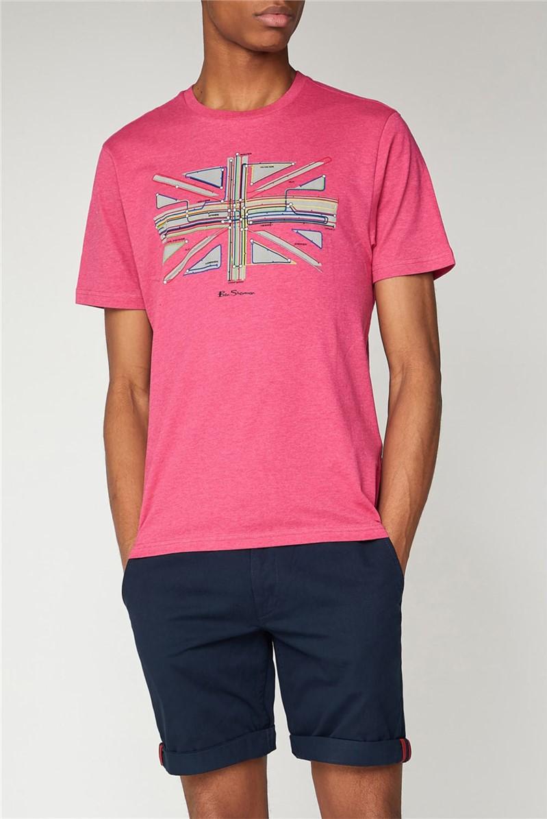 Pink Underground Graphic T-Shirt