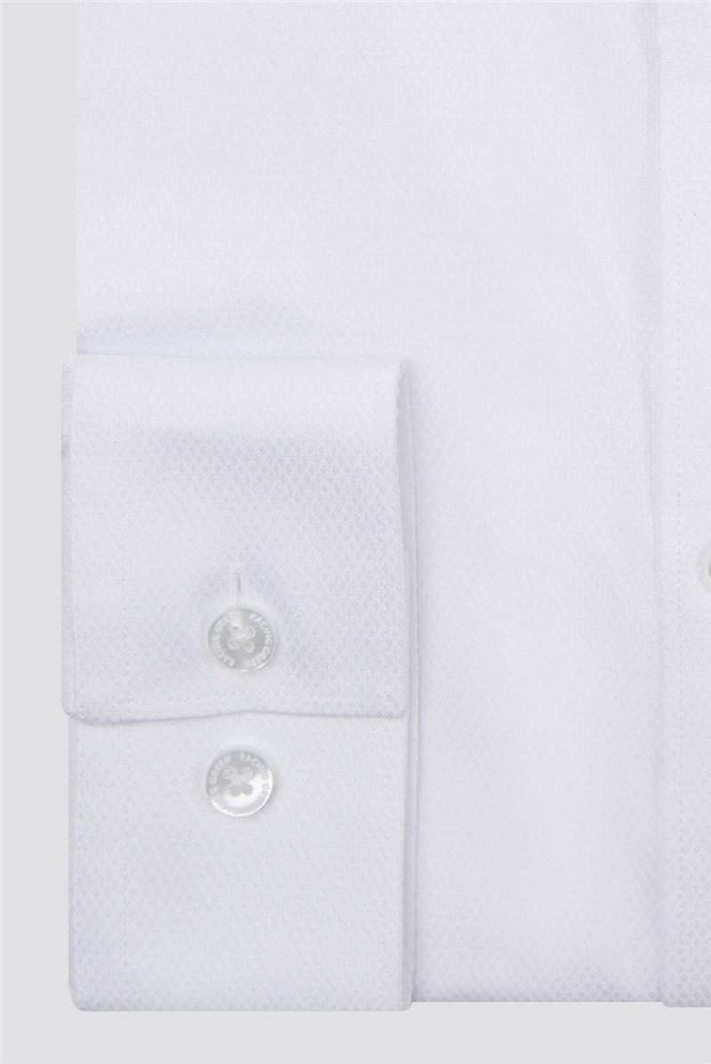 White Textured Victor Shirt