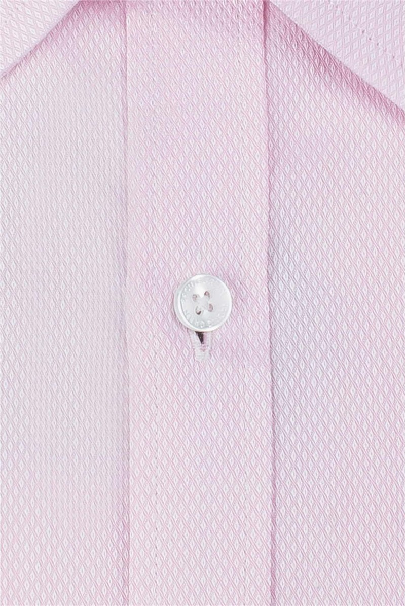 Pink Textured Victor Shirt