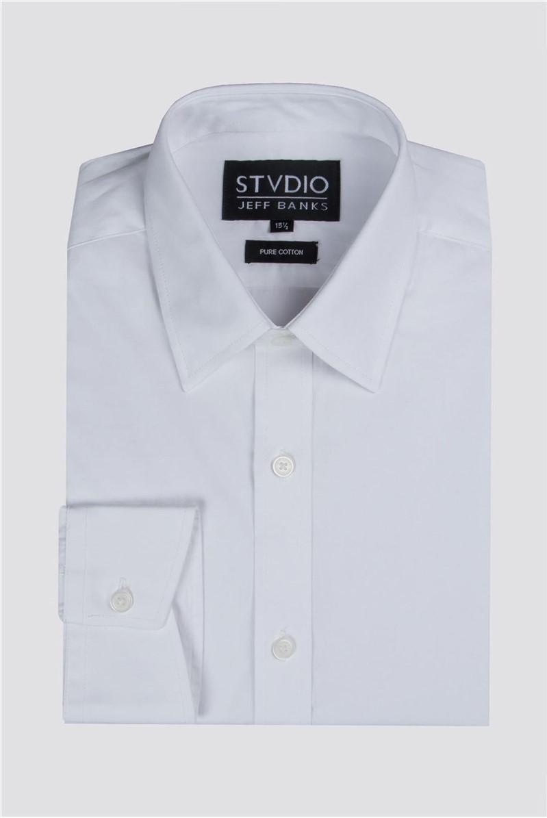 Stvdio White Slim Fit Shirt