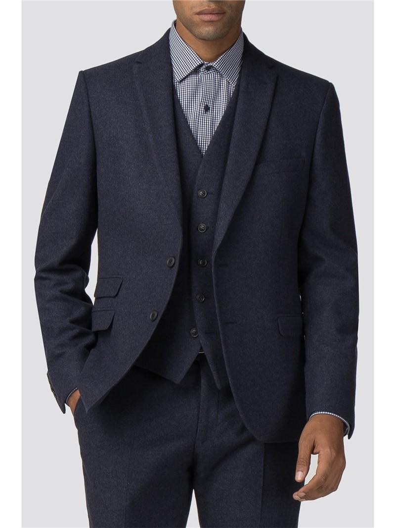 Deep Blue Tweed Donegal Camden Waistcoat