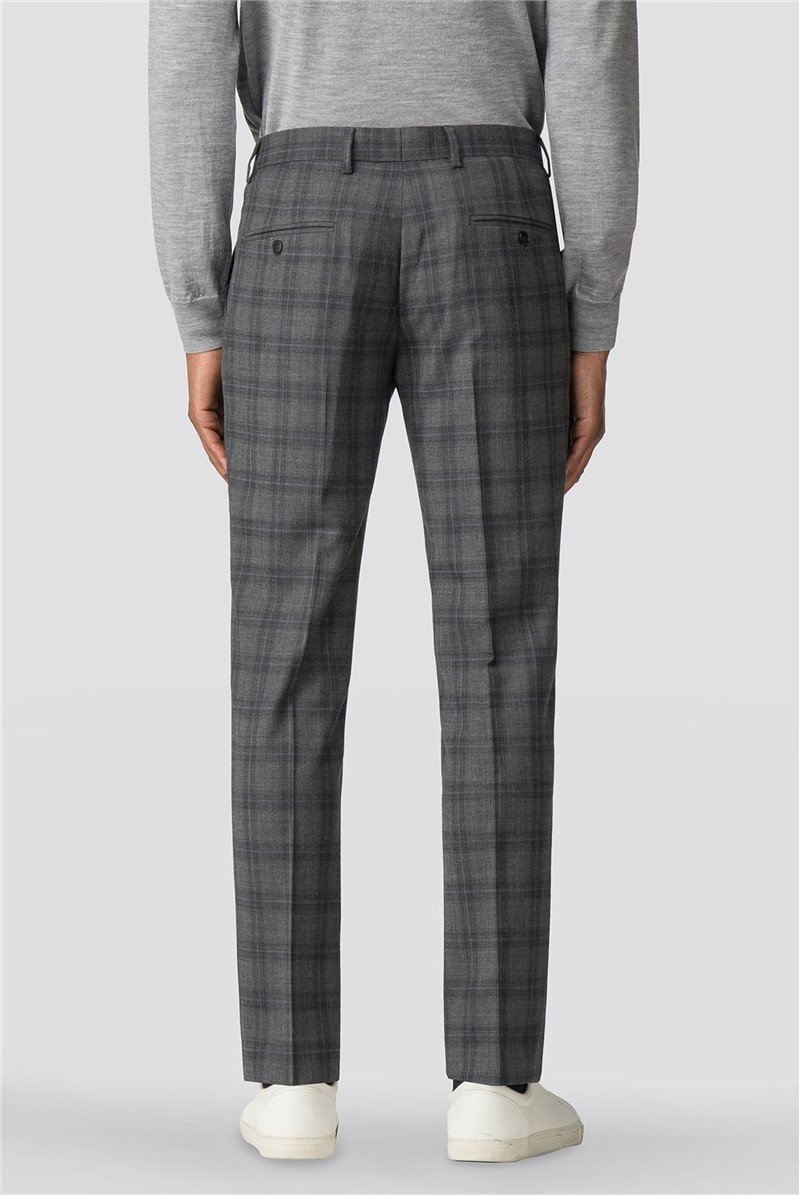 Cool Grey Blue Check Camden Suit