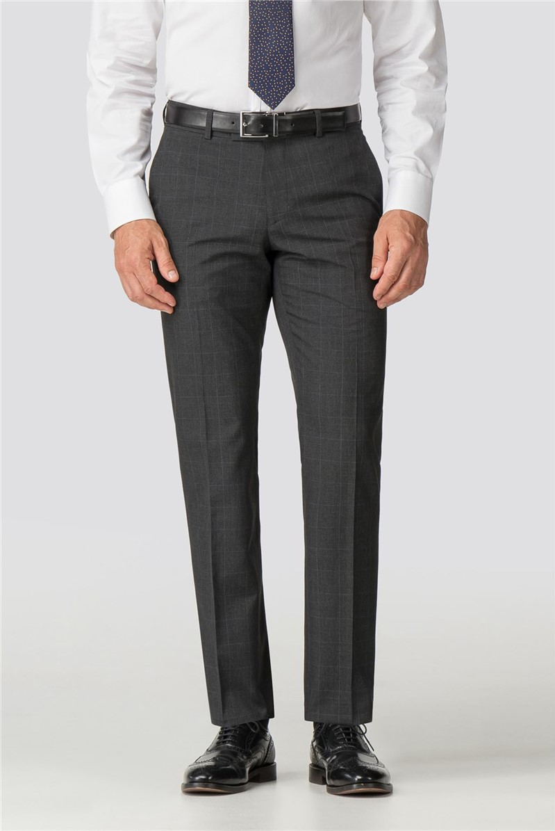 Charcoal Check Tailored Fit Trouser