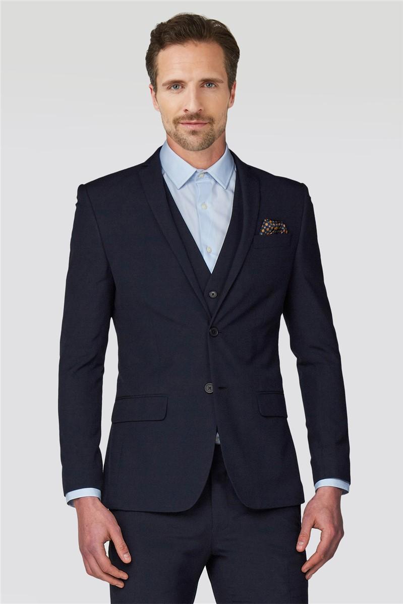 Navy Plain Slim Fit Suit