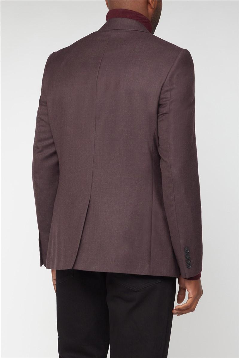 Merlot Flannel Slim Fit Trouser