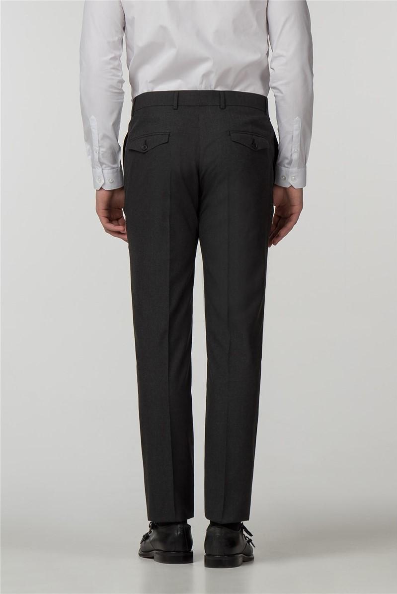 Slim Fit Charcoal Panama Trousers