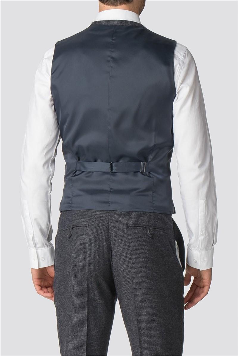 Charcoal Semi-Plain Waistcoat