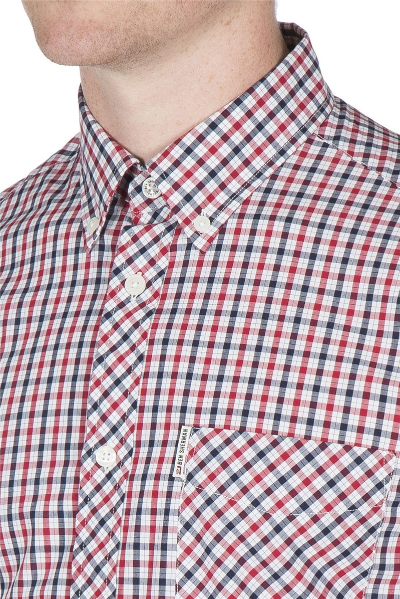 Blue/Red Short Sleeve House Check Shirt