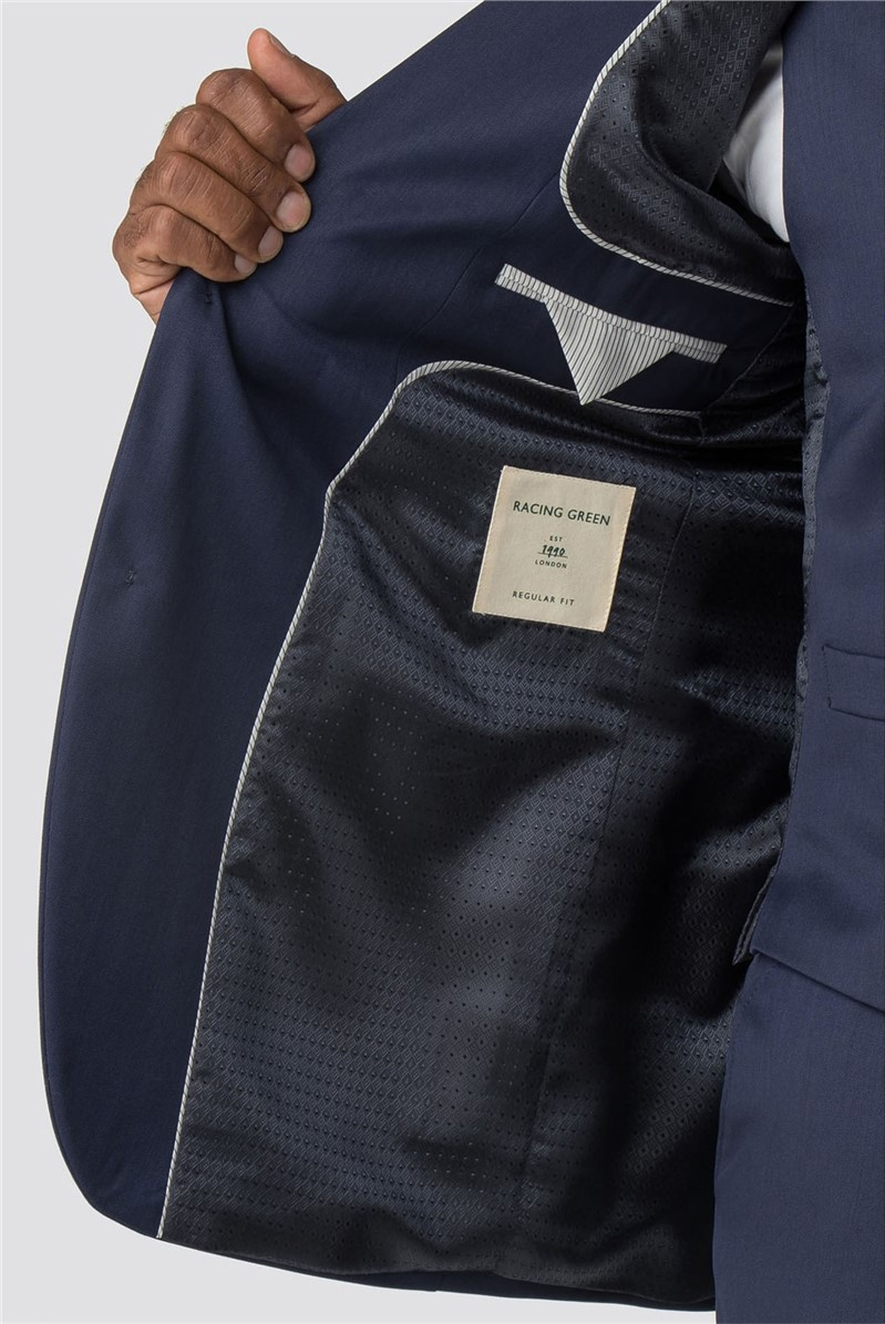 Navy Twill Regular Fit Perfromance Trousers