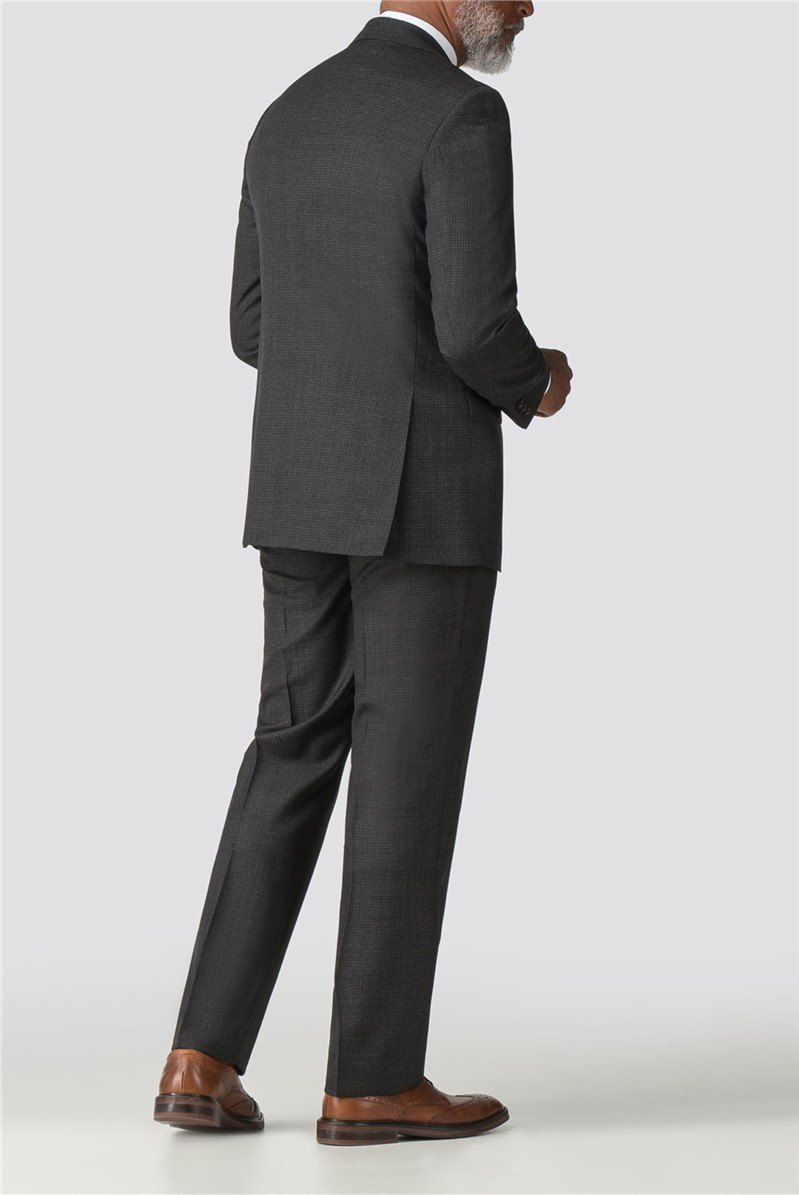 Charcoal Micro Check Regular Fit Suit