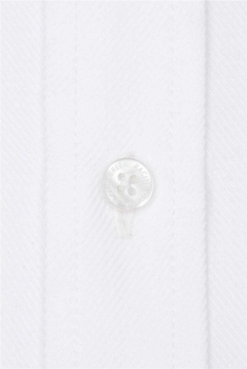 White Twill Performance Regular Fit Shirt
